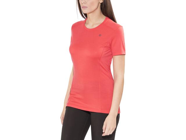 Norrøna Wool T-Shirt Femme, crisp ruby